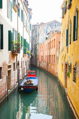 Venice, Italy - April 2th, 2014: The city of Venice for the urba