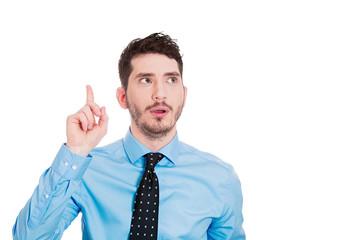 Bingo, I have an idea! Portrait young business man