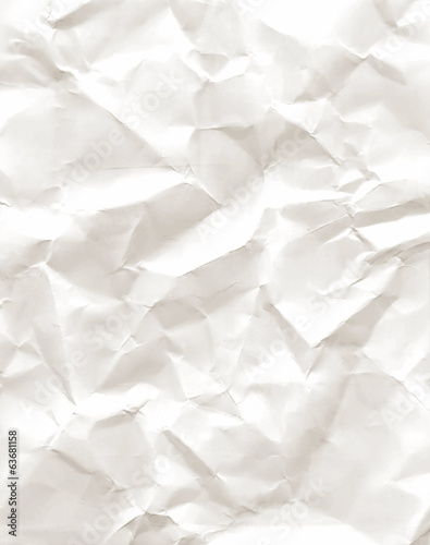 Sheet of old crumpled paper, crumpled paper texture, vector