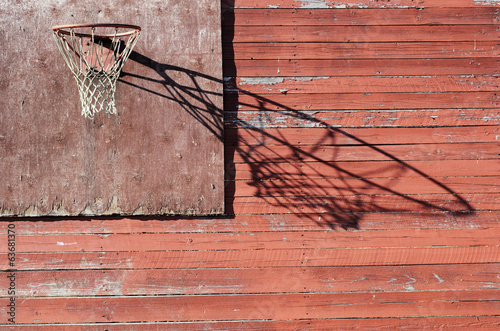 rural basketball backboard and hoop outdoor