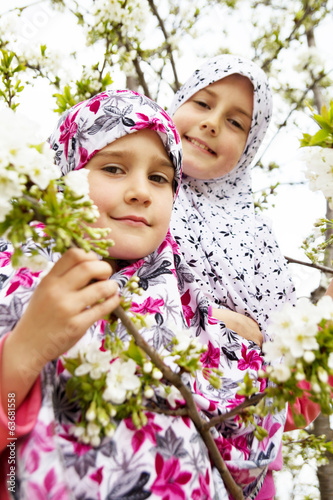 Two little muslim girls
