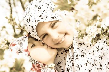 Two little muslim girls