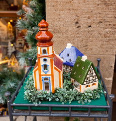 Porcelain houses, typical souvenirs Rothenburg ob der Tauber