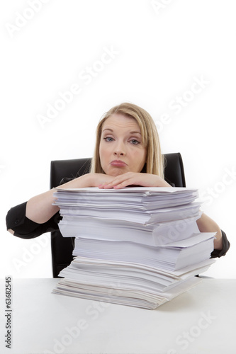 woman working at her desk