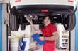 Leinwanddruck Bild - car inspection