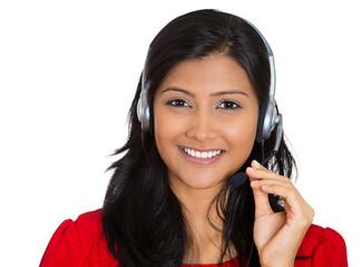 Attractive woman customer service representative