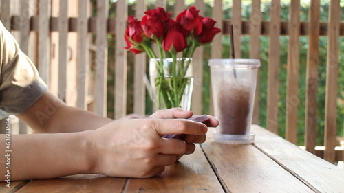 Chill Time Play Smart Phone Game, stock footage
