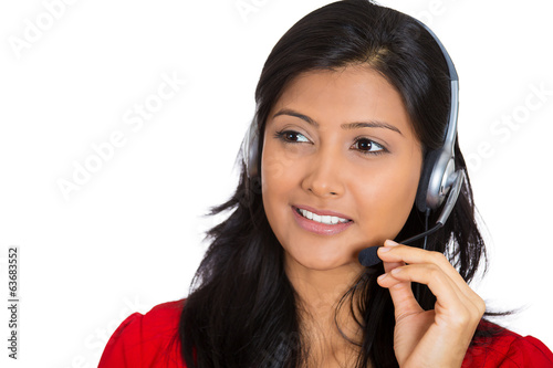 Attractive woman customer service representative