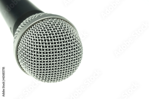 Black and silver microphone isolated