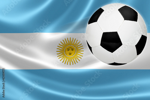 Soccer Ball Leaps Out of Argentina's Flag