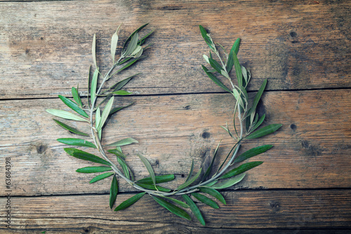 Fotobehang Olijfboom Olive tree wreath