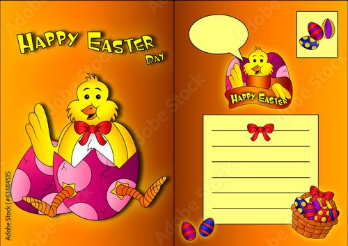 Easter ChickPost Card