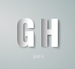 Vector Paper Graphic Alphabet G H