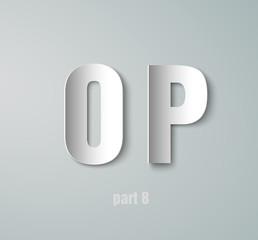 Vector Paper Graphic Alphabet O P