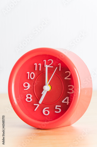 Red clock process retro vintage effect