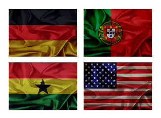 wave flags for soccer championship 2014. Groups G