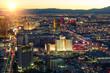 Las Vegas skyline at sunset - The Strip illunminated