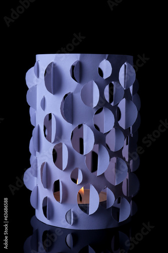 Home decor, candle lights on black background