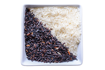 Rice and brown rice