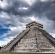 Main Mayan pyramid in Chichen Itza, Mexico