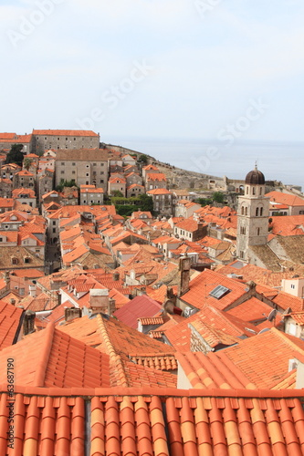 old city in Croatia with clustered brown buildings