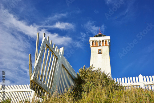 Lighthouse in Helnaes Denmark