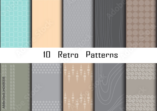Retro patterns collection  for making wallpapers.