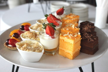 assorted Mini cake delicious and beautiful.