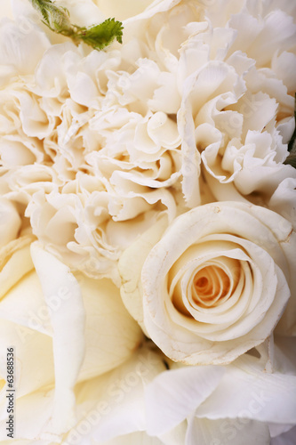 Beautiful wedding bouquet, close up