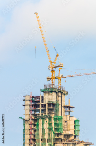 Construction crane building