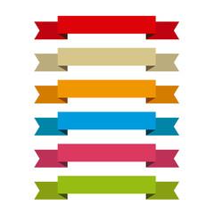Rótulos cinta de colores, etiquetas para títulos