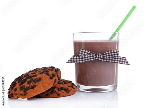 Chocolate milk isolated on white