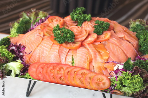 slice smoke salmon