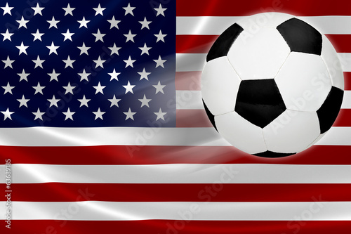 Soccer Ball Leaps Out of USA's Flag