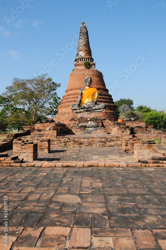 Old temple in Ayutthaya historical park, Thailand