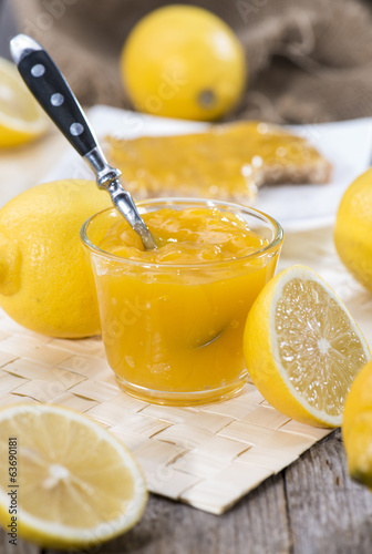 Portion of Lemon Jam