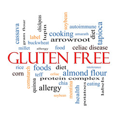 Gluten Free Word Cloud Concept