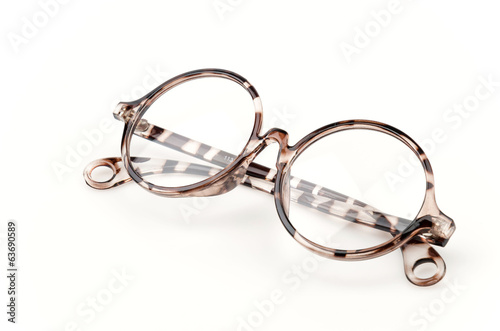 eyeglassses isolated white background