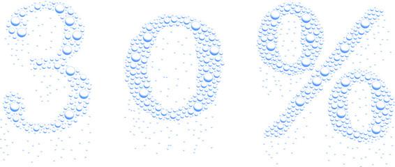krople wody 30%
