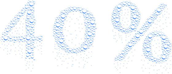 krople wody 40%