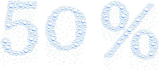 krople wody 50%