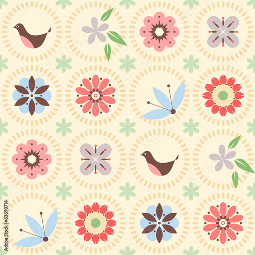 seamless_flowers_bird