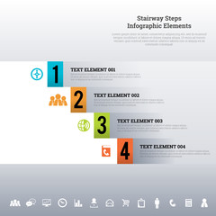 Stairway Steps Infographic Elements