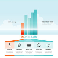 Graphic Bar Infographic Elements