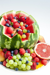 fruit salad in water melon
