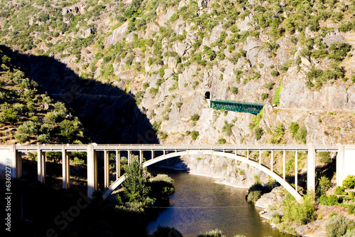 railway and road viaducts in Douro Valley, Portugal