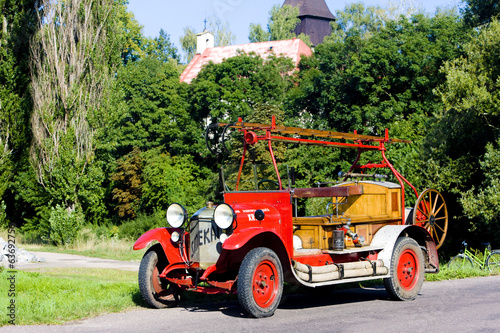 historical fire engine, Czech Republic
