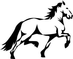 stylized trotting horse