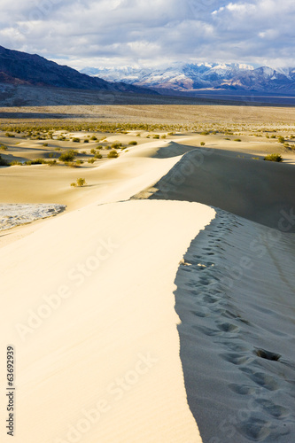 Stovepipe Wells sand dunes, Death Valley NP, Californ