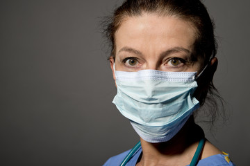 Nurse/Doctor With Surgical Mask